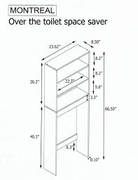 Space Saver Toilet Over The Toilet Space Saver Cabinet Montreal Natural Oak Color
