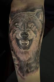 dangerous teeth with scary wolf design for sleeve