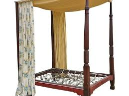 bedroom 96 vintage four poster bed frame with floral curtains