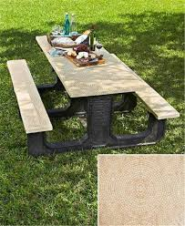 Picnic Table Bench Covers 53 3 Piece Picnic Table Cover Set Custom Stay Put Fitted 10 Ft