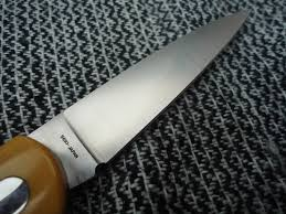 sold vintage al mar shadow pattern falcon in ivory micarta and