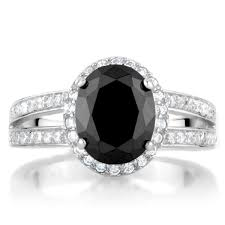 faux engagement rings s black 3 carat oval cz engagement ring
