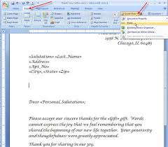 merging for dummies creating mail merge letters in word 2007