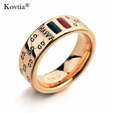 men rings quality 18k gold happy word men ring engineers two tones