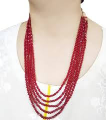 beads necklace handmade images Na20 daphne multi layer handmade ruby shade beads necklace haar jpg