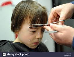 haircut style for 7 year olds 7 year old boy having a haircut at a barbers in great ayton