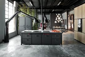 béton ciré sol cuisine minà un îlot de cuisine tout en un ultra contemporain galerie