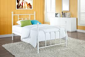 remarkable foxy bedroom design ideas using twin size metal bed