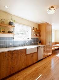 Kitchen Sinks With Backsplash Farmhouse Kitchen Sink Kitchen Transitional With Blue Backsplash