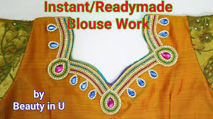 Design At Home by How To Make Easy Instant Readymade Saree Blouse Design Dress