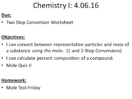objectives chemical reaction exam will include lab from yesterday