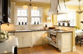kitchen cream kitchen cabinets black granite countertops