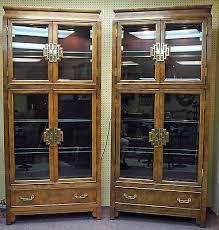 Curio Cabinets Pair Curio Display Case Collection On Ebay