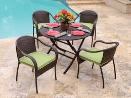 Resin Bistro Chairs Table Fiji Resin Wicker 5 Pc Bistro Set With 42