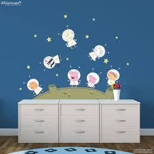 peppa pig and friends on the moon wall stickers pack peppa pig and friends on the moon wall stickers pack