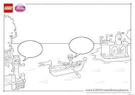 princess ariel boat lego disney coloring pages printable