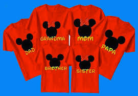 do you wear custom t shirts for your disney family vacation
