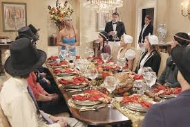 newspaper rock thanksgiving dinner in suburgatory