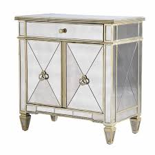 seville venetian glass 2 door 1 drawer mirrored cabinet