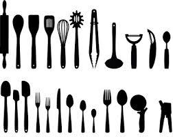 Designer Kitchen Utensils Kitchen Utensils Svg Cut File Cutting Files Kitchen Utensils