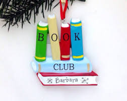 book club gift wood book club ornament with quote by ernest