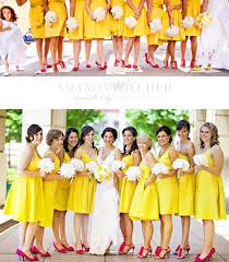 yellow dress for wedding a color spotlight yellow bridesmaid dresses bridesmaid