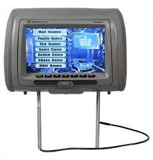 nissan armada headrest dvd player rockville rvd951 gr 9 u201d grey dual dvd hdmi car headrest monitors 2