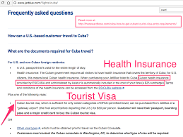 cuba how to get a cuban tourist visa entry requirements medical