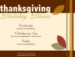 thanksgiving hours flyer thanksgiving flyer