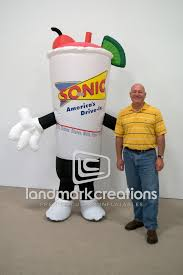 Halloween Costumes Sonic Sonic Drive Cherry Limeade Inflatable Costume