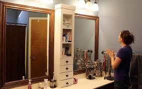 frame a bathroom mirror contemporary u2014 rs floral design