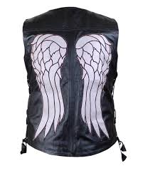 daryl dixon vest spirit halloween the walking dead governor daryl dixon angel wings leather vest