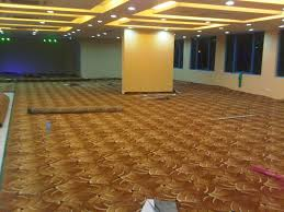 lovely meeting room with brown wall to wall carpet also white
