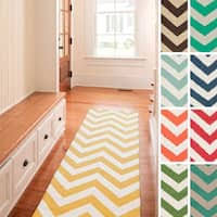 Chevron Runner Rug West Flatweave Chevron Runner Rug 2 6 X 8 Free Shipping On