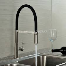 Brushed Brass Kitchen Faucet by Online Shop Newly Patent Design 360 Swivel 100 Solid Brass Single
