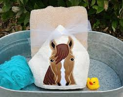 Horse Bathroom Accessories by Horse Hooded Towel Etsy