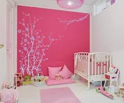 Cute Pink Rooms by Cute Pink And White Colors For Baby Nursery Bedroom Decoration
