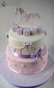 rocking horse christening cake baby shower pinterest