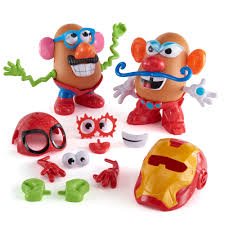 potato head marvel spider man iron man playskool