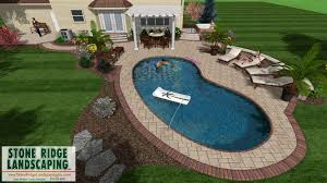 Paver Patios With Fire Pit by Stone Ridge Landscaping Inc Pool Paver Patio U0026 Fire Pit Design