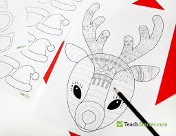 funky reindeer christmas craft teach starter blog