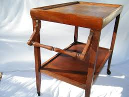 antique wooden rolling kitchen tea coffee serving cart youtube