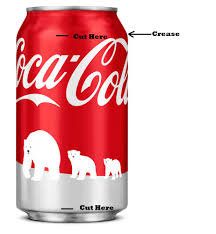 coca cola can christmas tree s and m crafting