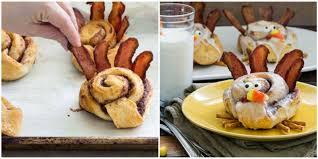 cinnamon roll turkeys are the most adorable thanksgiving breakfast