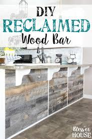 diy reclaimed wood bar bless er house