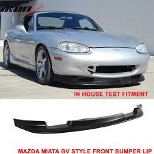 99 00 mazda miata mx 5 gv style coupe front bumper lip dam spoiler