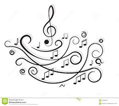 musical notes ornament with swirls stock image image 26926501