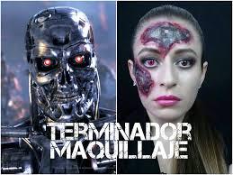 Terminator 2 Halloween Costume Terminator Maquillaje Halloween