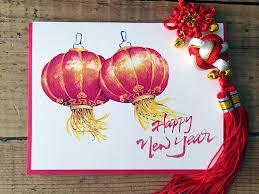 lunar new year photo cards new year card lantern card cny card lunar
