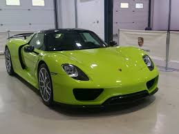 acid green porsche 918 spyder weissach package spotted today at an
